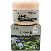Ekel Интенсивный ампульный лифтинговый крем от морщин со «змеиным» пептидом для лица Snake Ample Intensive Cream (100 гр)