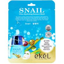Ekel Ультра-увлажняющая тканевая маска «Улитка» для лица Snail Ultra-Hydrating Essence Mask (1 шт x 25 мл)