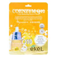 Ekel Ультра-увлажняющая антивозрастная тканевая маска с убихиноном (коэнзимом Q10) Сoenzyme Q10 Essence Mask (1 шт x 25 мл)