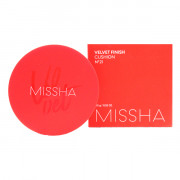 Missha Матирующий кушон для макияжа Velvet Finish Cushion SPF50+ PA+++ Тон 21 Светлый беж (15 гр)