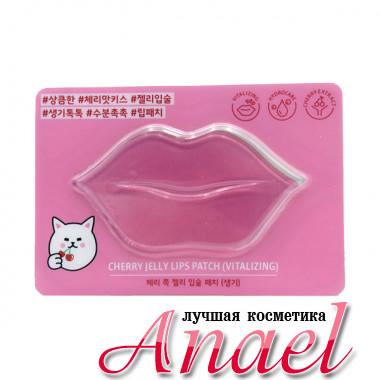 Etude House Гидрогелевый патч с экстрактом вишни для губ Cherry Jelly Lips Patch Vitalizing (1 шт)
