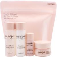 Etude House Набор миниатюр увлажняющих средств с коллагеном Moistfull-Collagen Skin Care Kit (4 предмета)