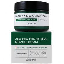 Some By Mi Чудо-крем с кислотами и экстрактом центеллы AHA-BHA-PHA 30 Days Miracle Cream (60 гр)