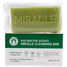 Some By Mi Чудо-мыло с кислотами и экстрактом чайного дерева AHA-BHA-PHA 30 Days Miracle Cleansing Bar (95 гр)