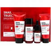 Some By Mi Набор миниатюр восстанавливающих чудо-средств с муцином черной улитки для лица Snail Truecica Miracle Repair Starter Kit Edition (4 предмета)