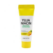 Some By Mi Миниатюра ночной отбеливающей маски с маслом цитруса Юдзу и ниацинамидом для лица Yuja Niacin Brightening Sleeping Mask (20 гр)