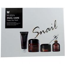 Mizon Набор восстанавливающих средств с улиточным муцином Snail Care Freeze Your Touth (4 предмета)