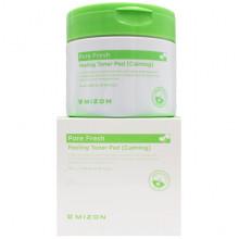 Mizon Успокаивающие очищающие пилинг-спонжи для лица и пор Pore Fresh Peeling Toner Pad (Calming) (30 шт)