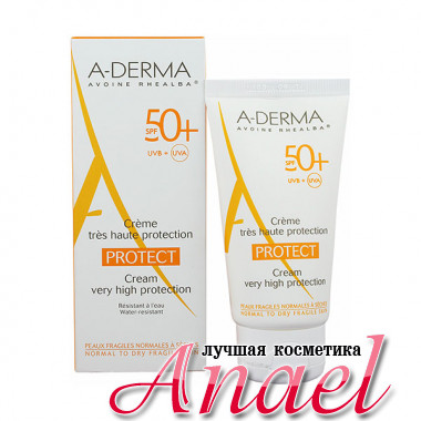 A-Derma Водостойкий солнцезащитный крем для сухой, хрупкой кожи SPF50+ Protect Cream Very High Protection (40 мл)
