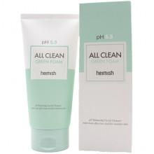 Heimish Ребалансирующая мягкая пенка для умывания All Clean Green Foam pH 5,5 (150 гр)