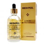Medi-Peel Пептидная сыворотка с коллоидным золотом для сияния кожи 9 Peptide Balance Luxury 24K Gold Ampoule (100 мл)