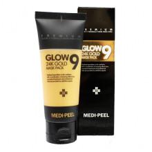 Medi-Peel Очищающая маска-пленка премиум-класса с 24-каратным коллоидным золотом Premium Glow 9 24k Gold Mask Pack (100 мл)