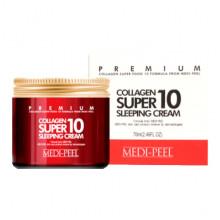 Medi-Peel Ночной питающий крем с коллагеном для лица Premium Collagen Super 10 Sleeping Cream (70 мл)