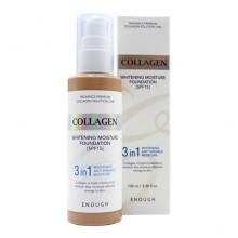 Enough Тональный крем-основа 3 в 1 с коллагеном Тон 21 (Натуральный беж) Collagen Whitening Moisture Foundation 3 in 1 SPF 15 (100 мл)