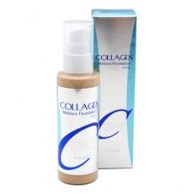 Enough Увлажняющая тональная основа с коллагеном под макияж Collagen Moisture Foundation SPF15 Тон 13 Светлый беж (100 мл)