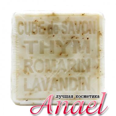 Savonitto Квадратное мыло «Тимьян, Розмарин, Лаванда» Cube De Savon Thym Romarin Lavandin (265 гр)