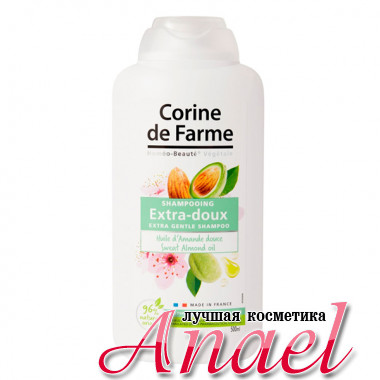 Corine de Farme Экстра-мягкий шампунь с маслом сладкого миндаля Extra Gentle Shampoo Sweet Almond Oil (500 мл)