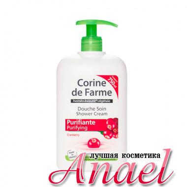 Corine de Farme Очищающий крем-гель для душа для чувствительной кожи тела «Клюква» Shower Cream Purifying Cranberry (750 мл)