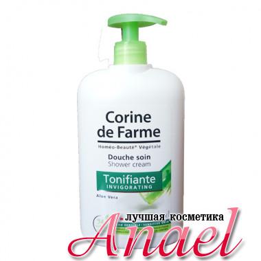 Corine de Farme Бодрящий крем-гель с экстрактом алоэ для душа Invigorating Shower Cream Aloe Vera (750 мл)