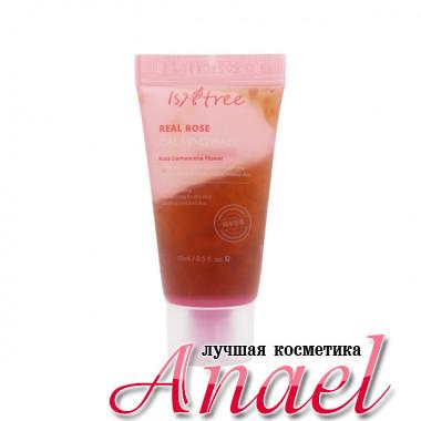 IsNtree Миниатюра смываемой успокаивающей гель-маски с розовой водой для чувствительной кожи лица Real Rose Calming Mask (15 мл)