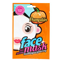 Bling Pop Успокаивающая осветляющая тканевая маска «Тыква» для лица Pumpkin Face Mask Soothing+brightening (1 шт х 20 мл)