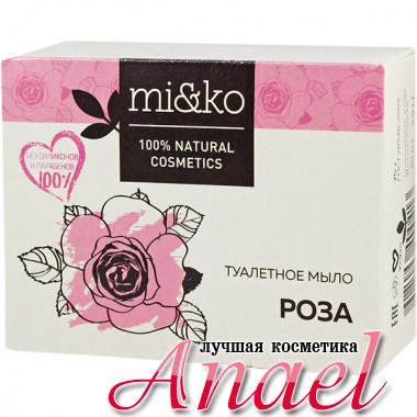 MI&KO Натуральное туалетное мыло «Роза» (75 гр)