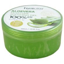 Farm Stay Многофункциональный гель с экстрактом алоэ Aloe Vera Moisture Soothing Gel 100% (300 мл)