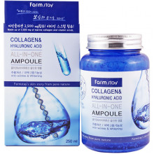 Farm Stay Многофункциональная сыворотка  «Все в одном» с коллагеном и гиалуроновой кислотой Collagen & Hyaluronic Acid All-In-One Ampoule (250 мл)