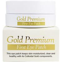 Secret Key Гидрогелевые патчи с коллоидным золотом Gold Premium First Eye Patch (60 шт)