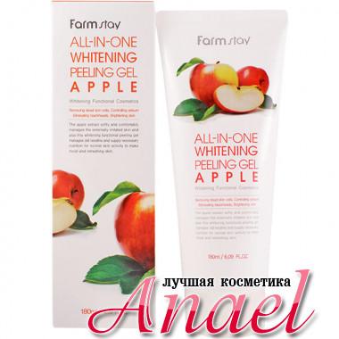 Farm Stay Отбеливающий пилинг-гель (скатка) с AHA-кислотами и экстрактом яблок All-In-One Whitening Peeling Gel Apple (180 мл)