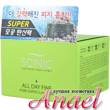 Scinic Глиняная супер-маска для очистки и сужения пор All Day Fine Pore Super Clay Mask (100 гр)