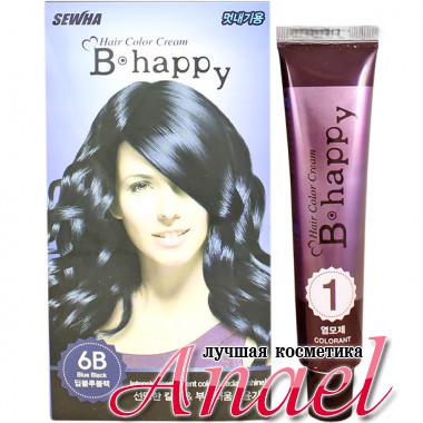 Sewha Интенсивная крем-краска для волос с эффектом ламинирования Тон 6B (иссиня-черный) B-Happy Hair Color Cream 6B (40 гр)