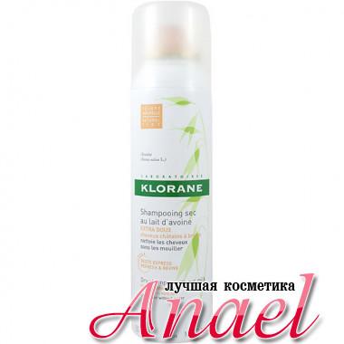 Klorane Тональный сухой шампунь для темных волос с овсяным молочком Dry Shampoo With Oat Milk (150 мл)