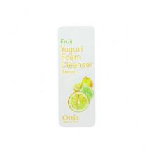 Ottie Пробник фруктово-йогуртовой пенки для умывания с лимоном Fruit Yogurt Foam Cleanser Lemon