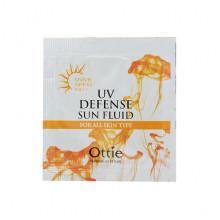 Ottie Пробник водостойкого солнцезащитного флюида с SPF43 Defense Sun Fluid Waterproof